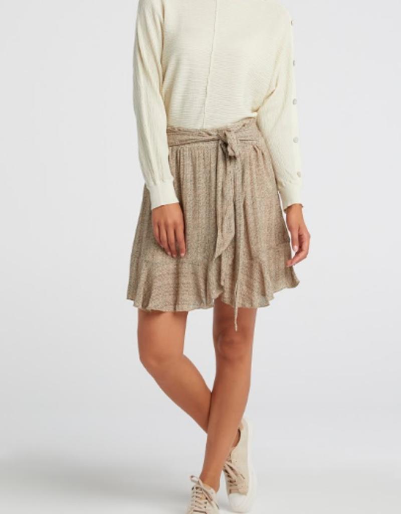 YaYa Yaya Printed mini skirt with faux wrap effect