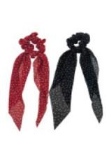 Jackie Fashion Jackie Polka-dot satin scarf scrunchie