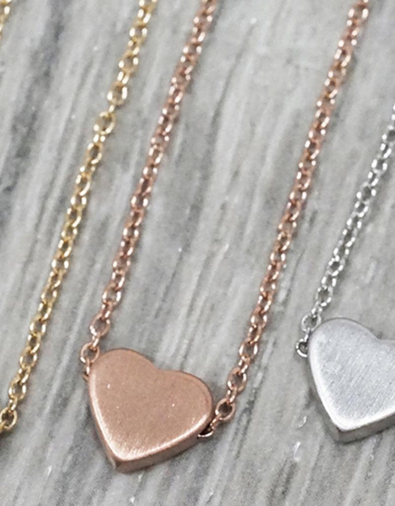 JJ+RR JJ+RR Simple Heart Necklace