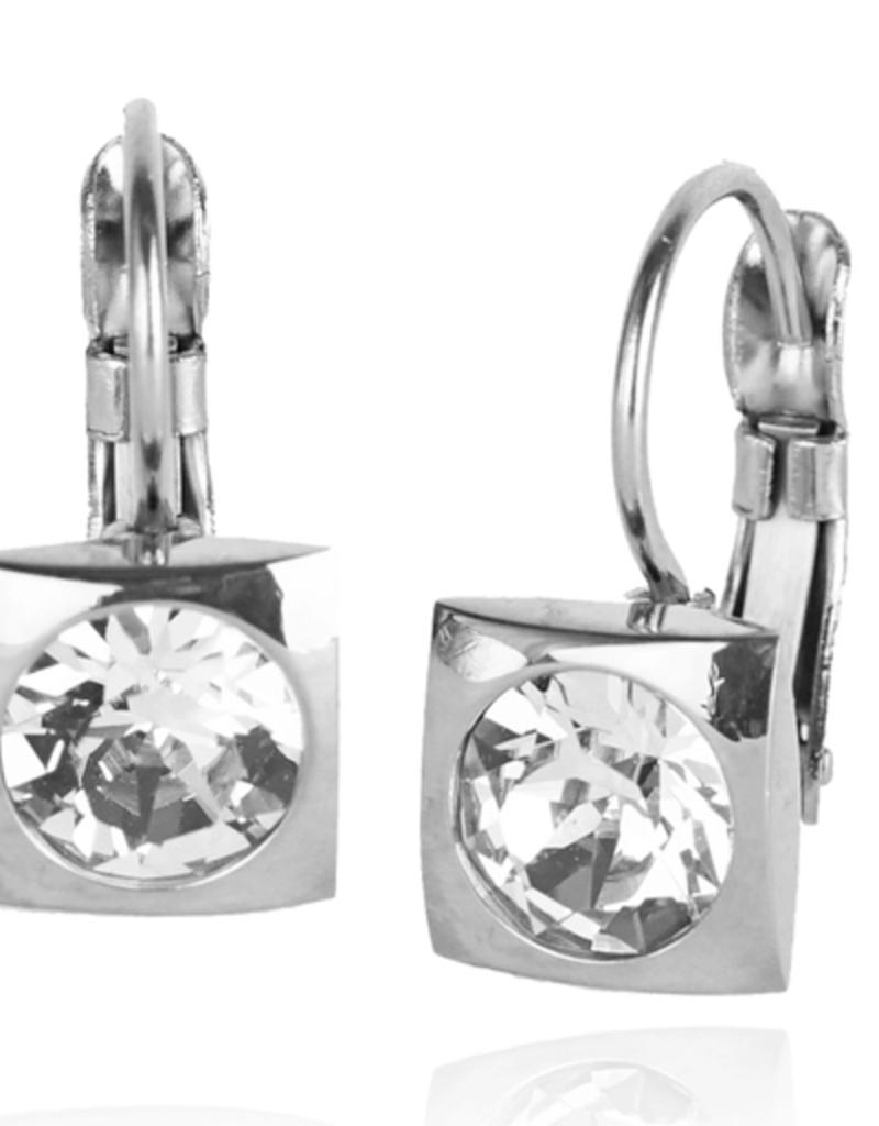 JJ+RR JJ+RR Classic square Swarovski crystal frenchback