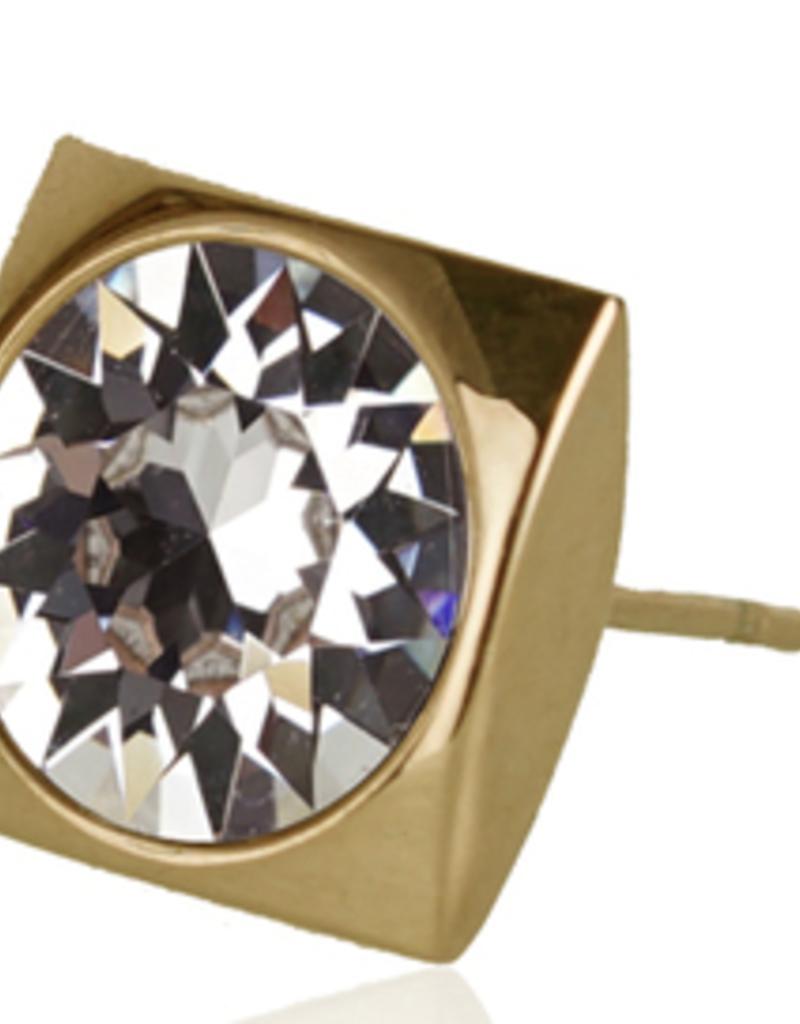 JJ+RR JJ+RR Luxe Square Swarovski crystal stud