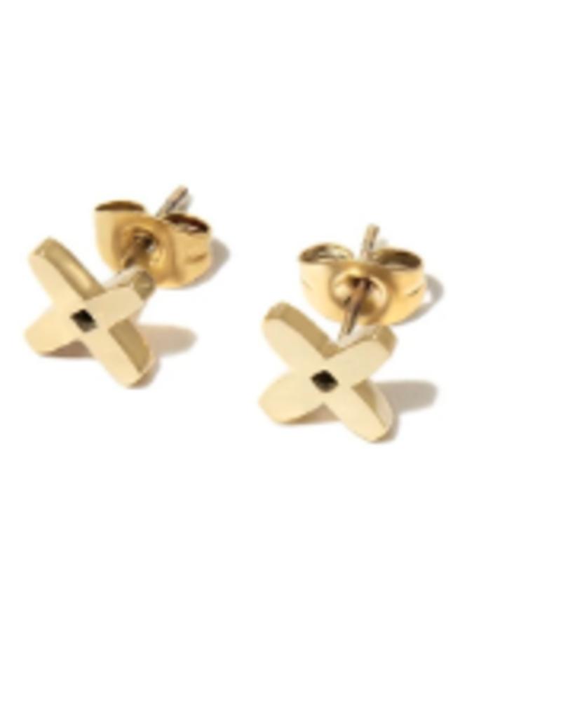 Brass & Unity Brass & Unity Flower Power stud earrings