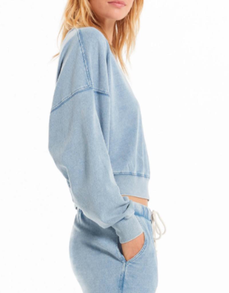 Z Supply Z Supply Sarah knit denim sweatshirt