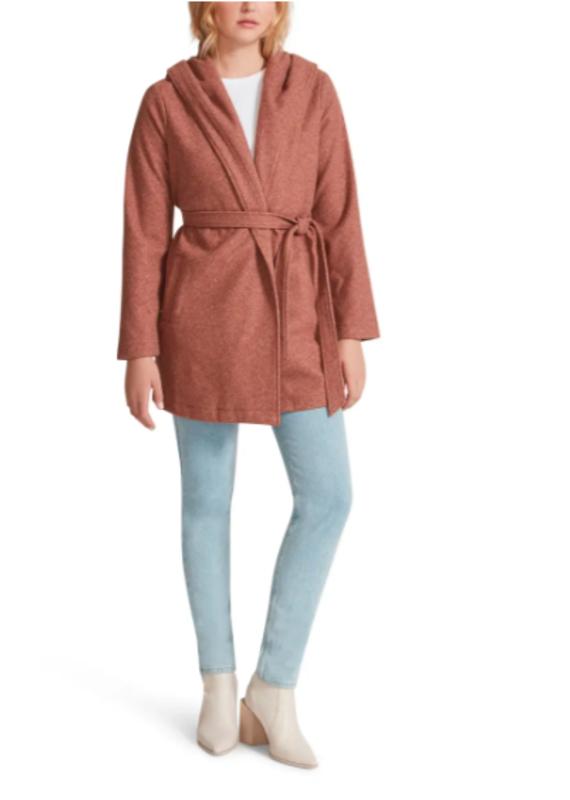 BB Dakota Hood For Thought Wrap Coat