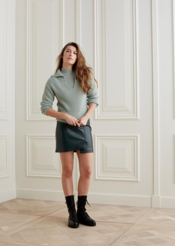 YaYa Faux leather skirt