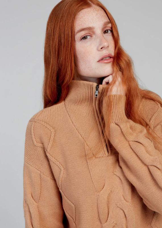 Fig Ukk Zip Sweater