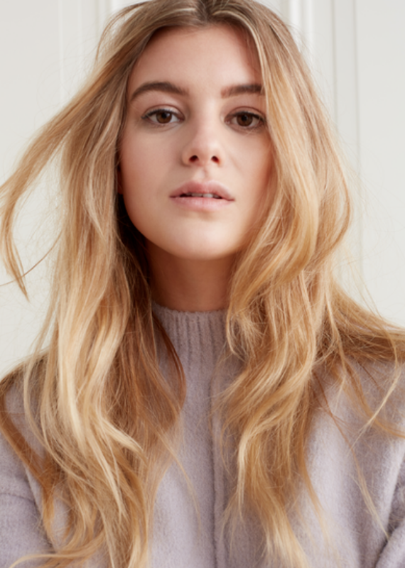 YaYa Vertical seam sweater