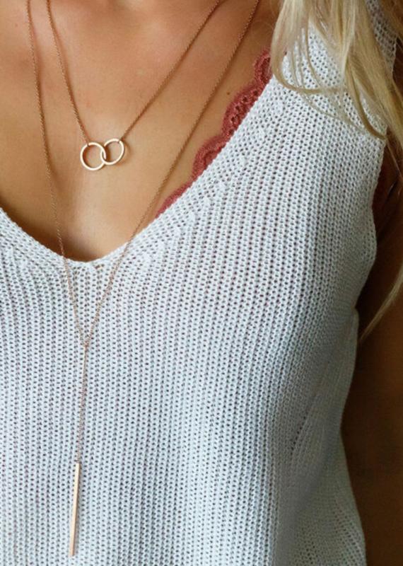 JJ+RR Bar drop Y necklace