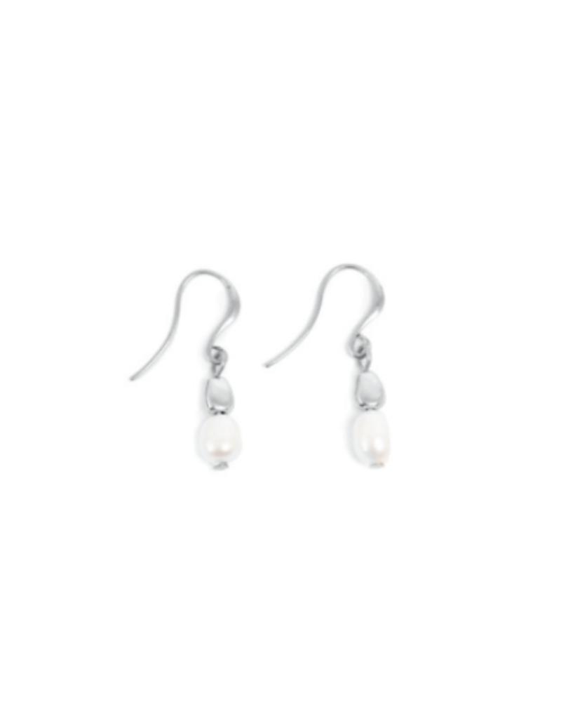 Merx A&C Joy Fresh Water Pearl Hook Earring Silver