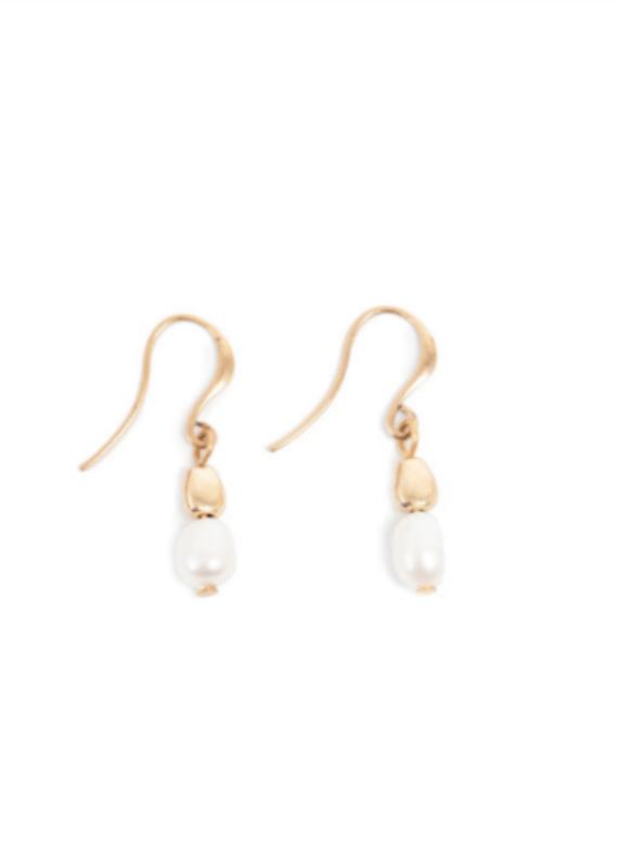 Merx A&C Joy Fresh Water Pearl Hook Earring Gold