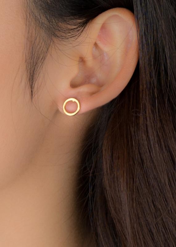 JJ+RR Open circle earring