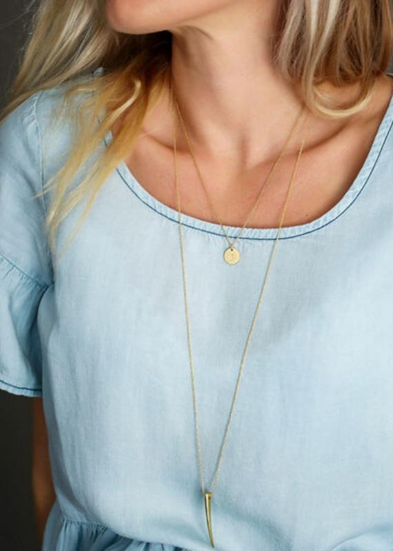 JJ+RR Horn necklace