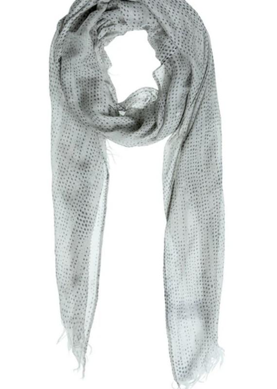 YaYa Silk blend scarf dot print