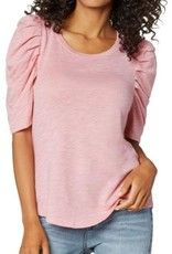 Liverpool LM8357K15 Gathered  Short Sleeve Knit Tee