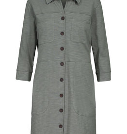 Tribal Button Front Cargo Tunic Dress