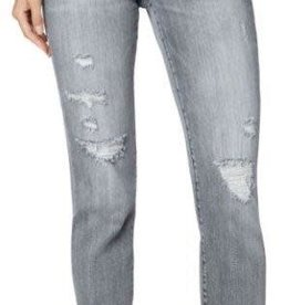 Liverpool Cropped Straight Jeans with Raw Hem