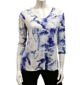 Gilmour Rayon V-neck 3/4 Sleeve Top