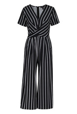 Tribal 38960 Short-sleeve Wrap Jumpsuit