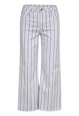 Tribal 67410 Audrey Wide Leg Stripe Crop