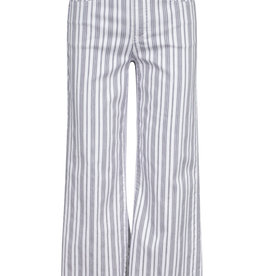 Tribal Audrey 5-Pocket Wide Leg Striped Cropped Pant