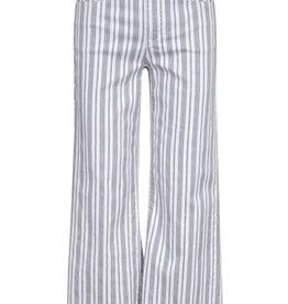 Tribal Audrey 5-Pocket Wide Leg Striped Cropped Pant