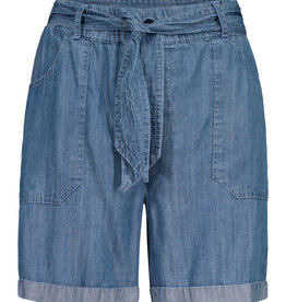 Tribal Paperbag Waist Chambray Denim Shorts