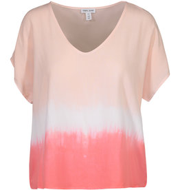 Tribal Dip-Dyed Drop Shoulder Blouse