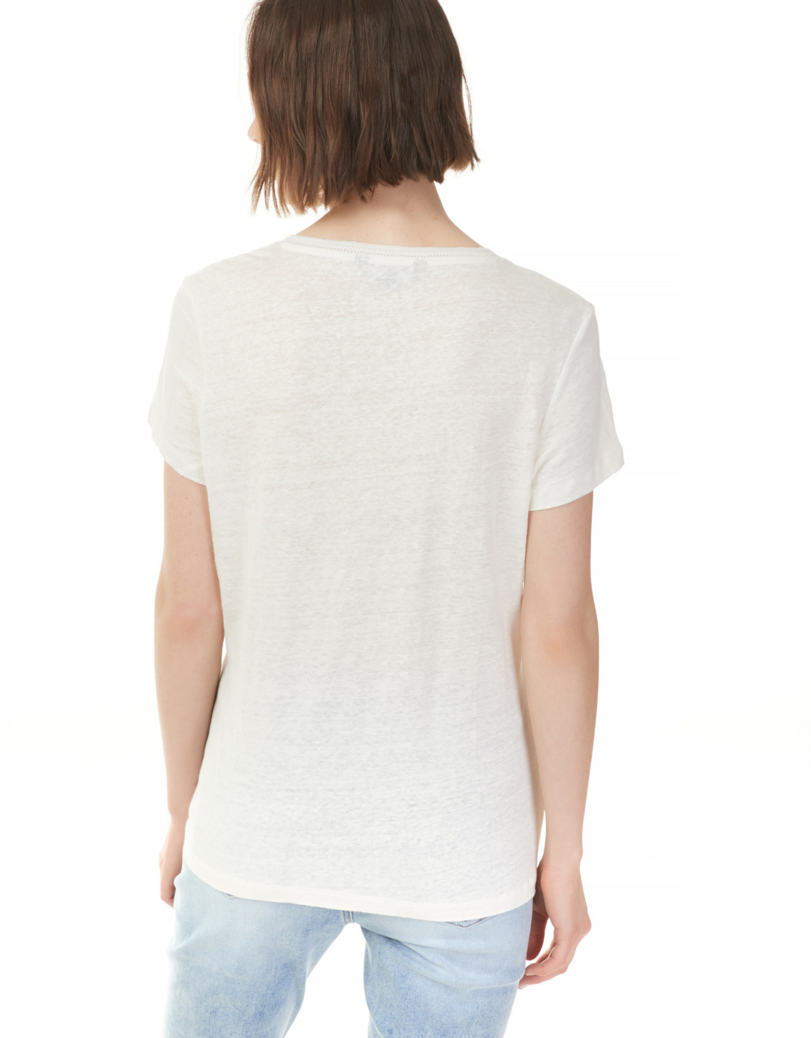 Charlie B C1231R  Short Sleeve Linen Top