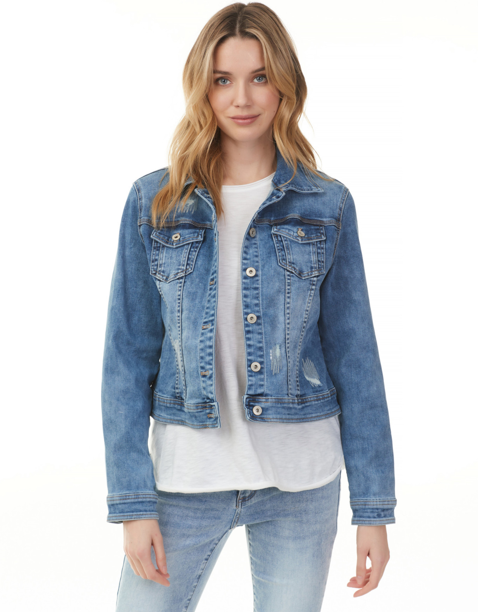 Charlie B C6163 Stretch Denim Jacket