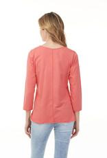 Charlie B C1263 Cotton 3/4 Sleeve Top