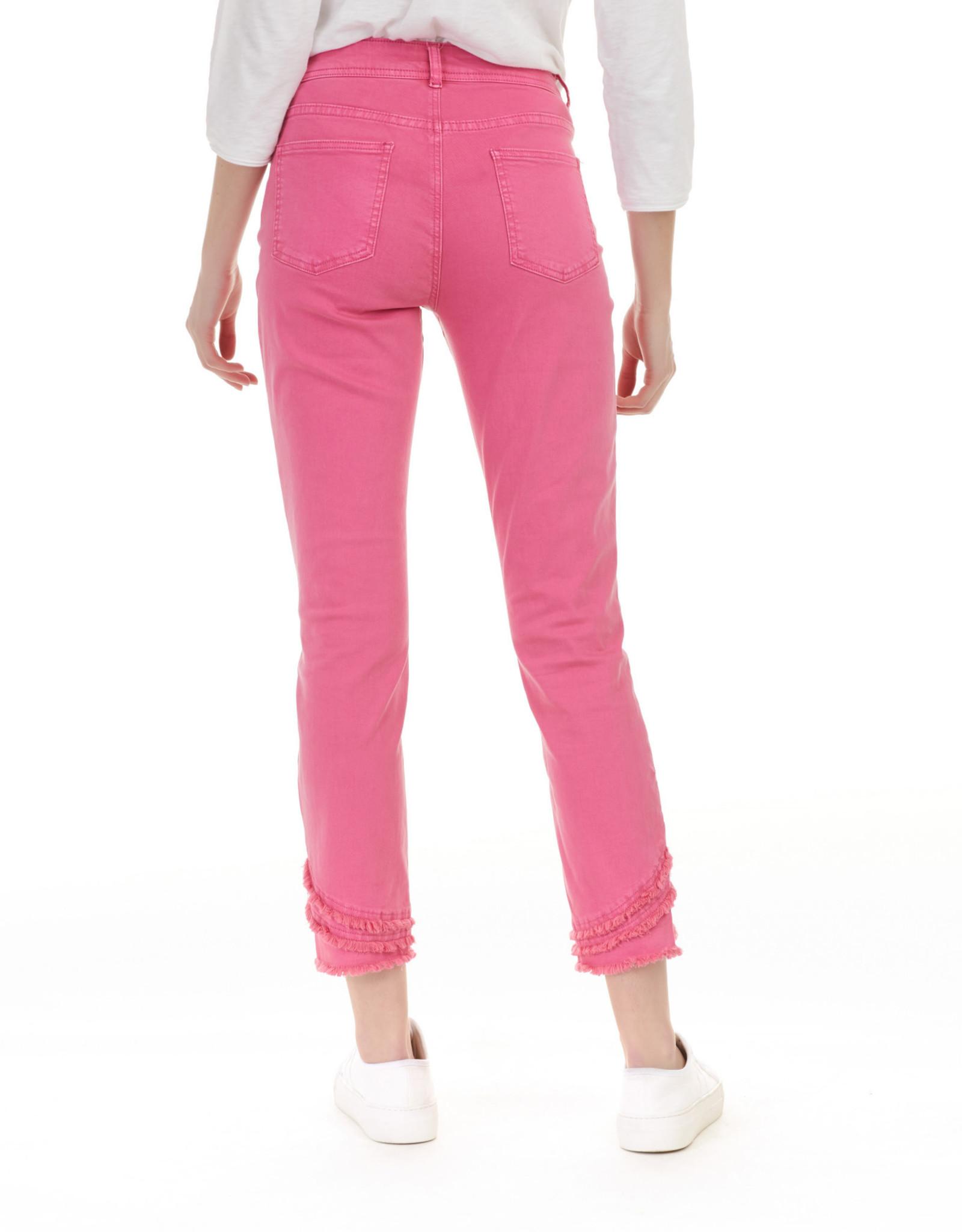 Charlie B C5273 Ripped Hem 5-Pocket Jeans