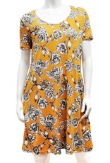 Gilmour RD-3025 Rayon Scoop Neck Tshirt Dress