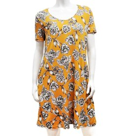 Gilmour Rayon Scoop Neck Tshirt Dress