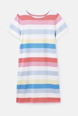 Joules 215167 Riviera Striped Print Tee Dress