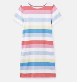 Joules Riviera Striped Print Tee Dress