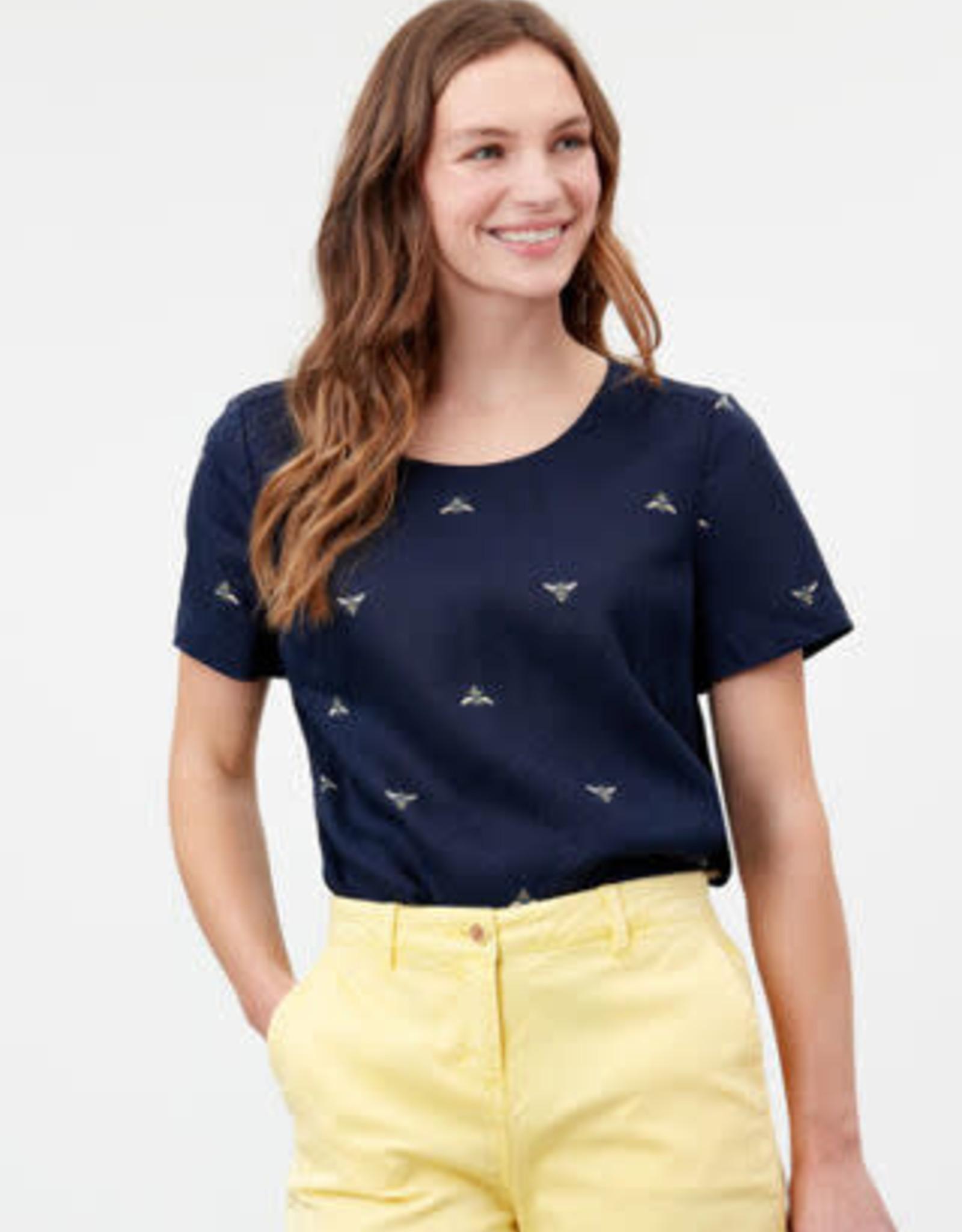 Joules 215748 Dina Linen Bee Top