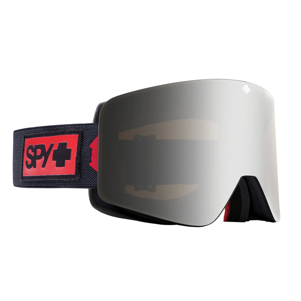 Spy Spy MARAUDER Night Rider Matte Black - HD Plus Bronze with Silver Spectra Mirror - HD Clear