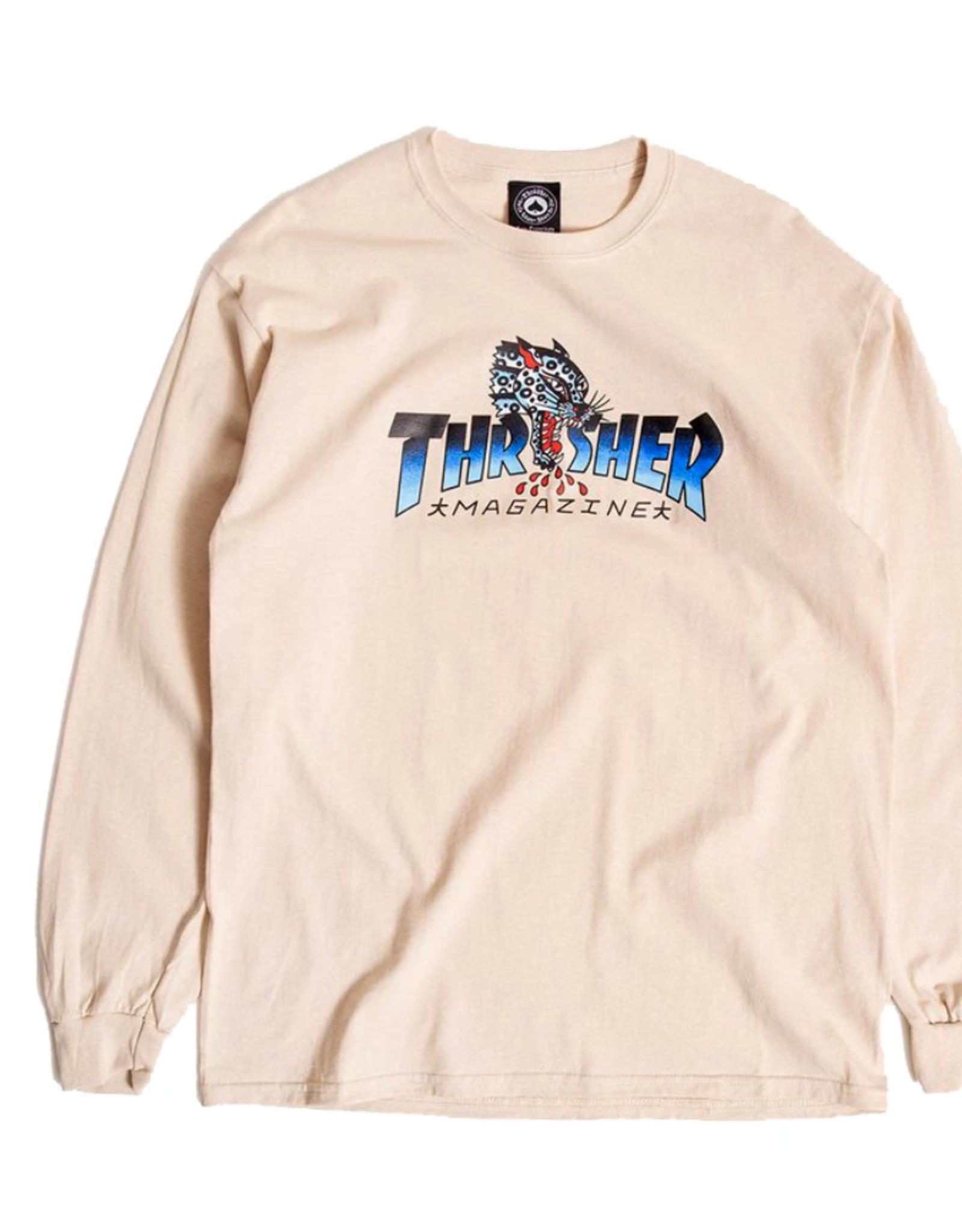 Thrasher THRASHER LEOPARD MAG L/S TEE