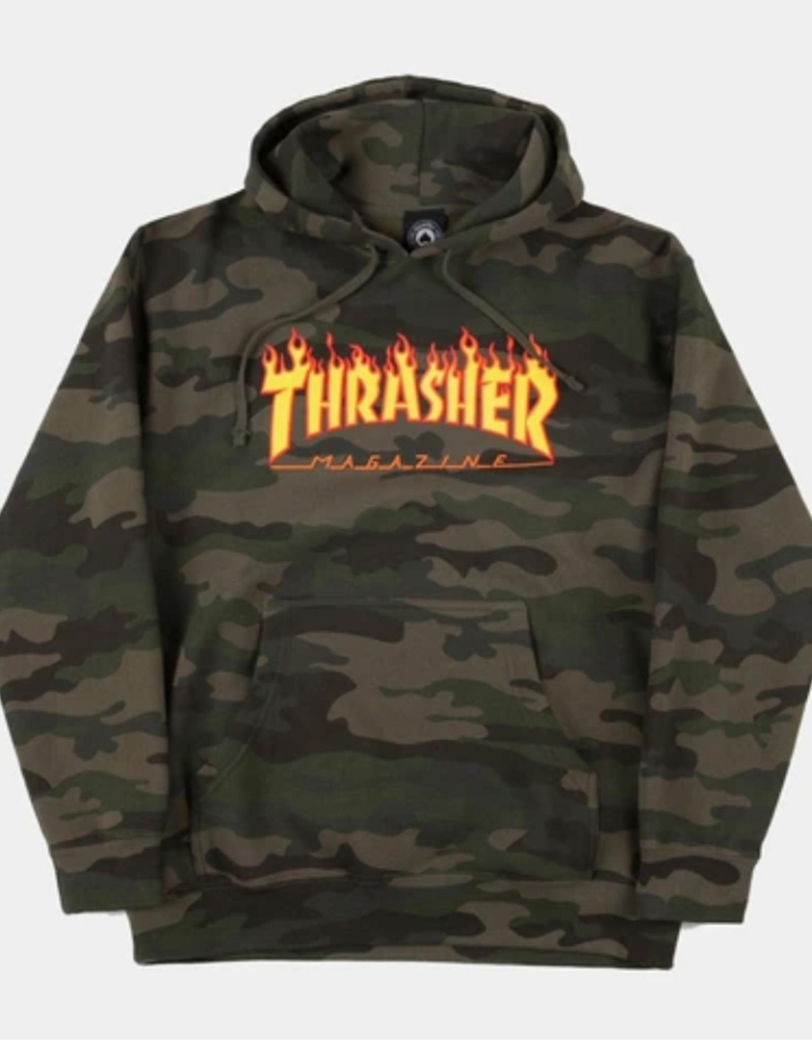 Thrasher THRASHER FLAME HOOD CAMO