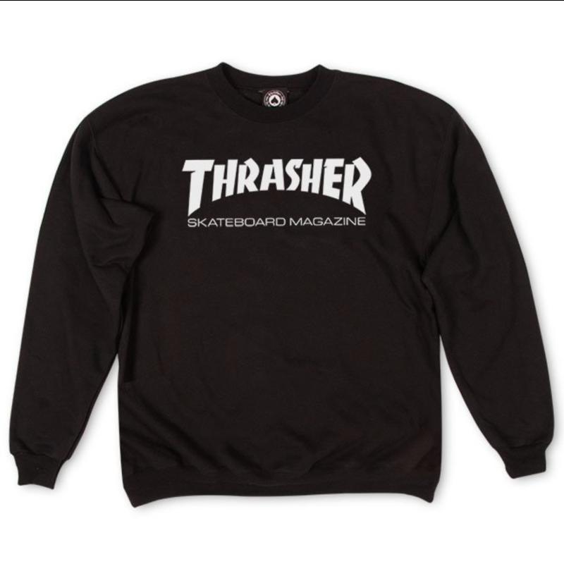Thrasher THRASHER MAG LOGO CREW NECK BLACK