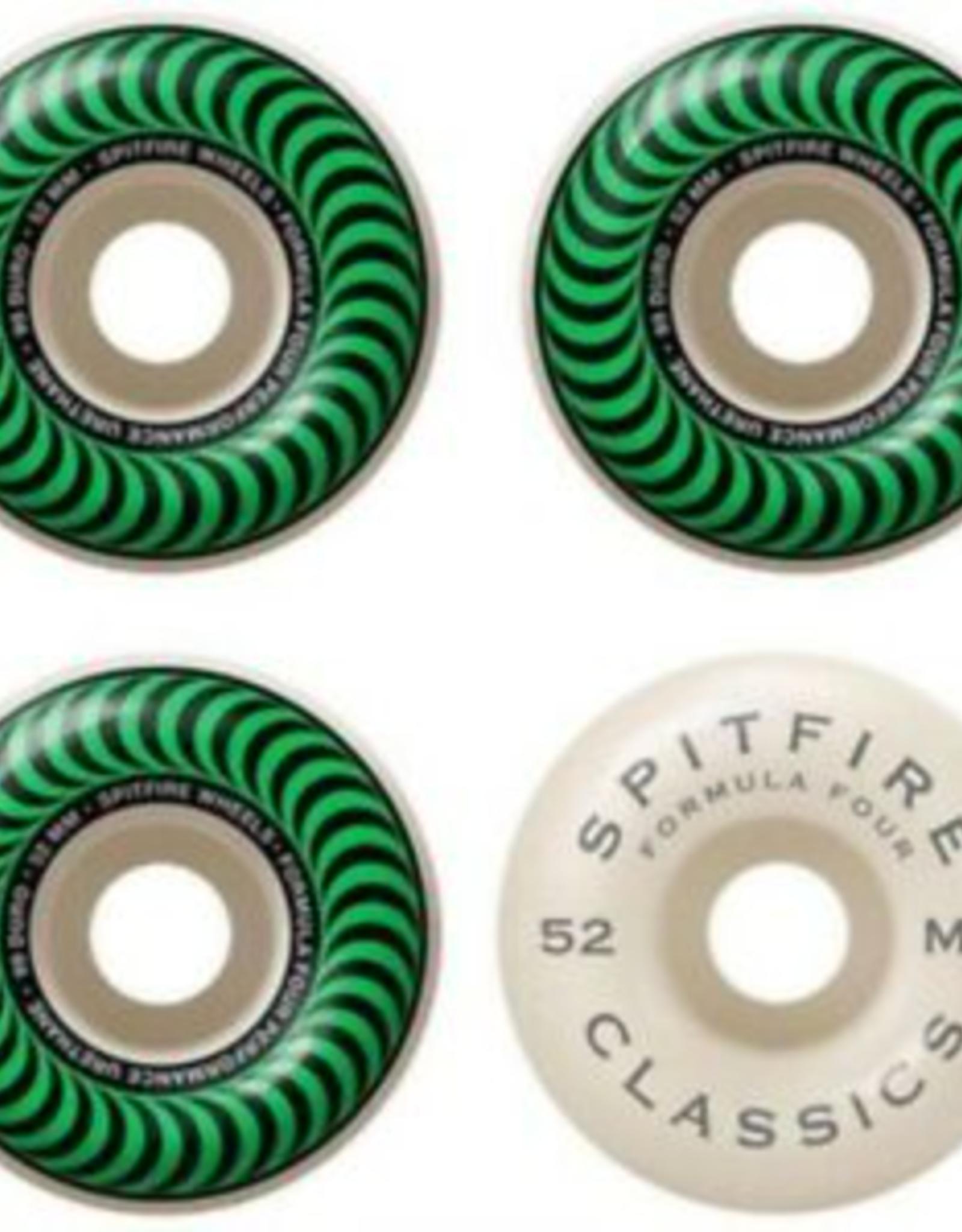Spitfire SPITFIRE FORMULA FOUR CLASSICS 99D 52MM GREEN SWIRL