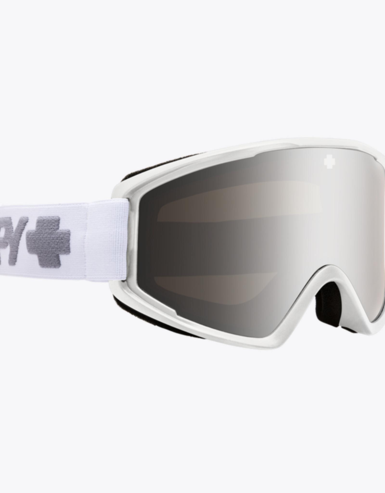 Spy SPY Crusher Elite Matte White - HD Bronze w/ Silver Spectra Mirror