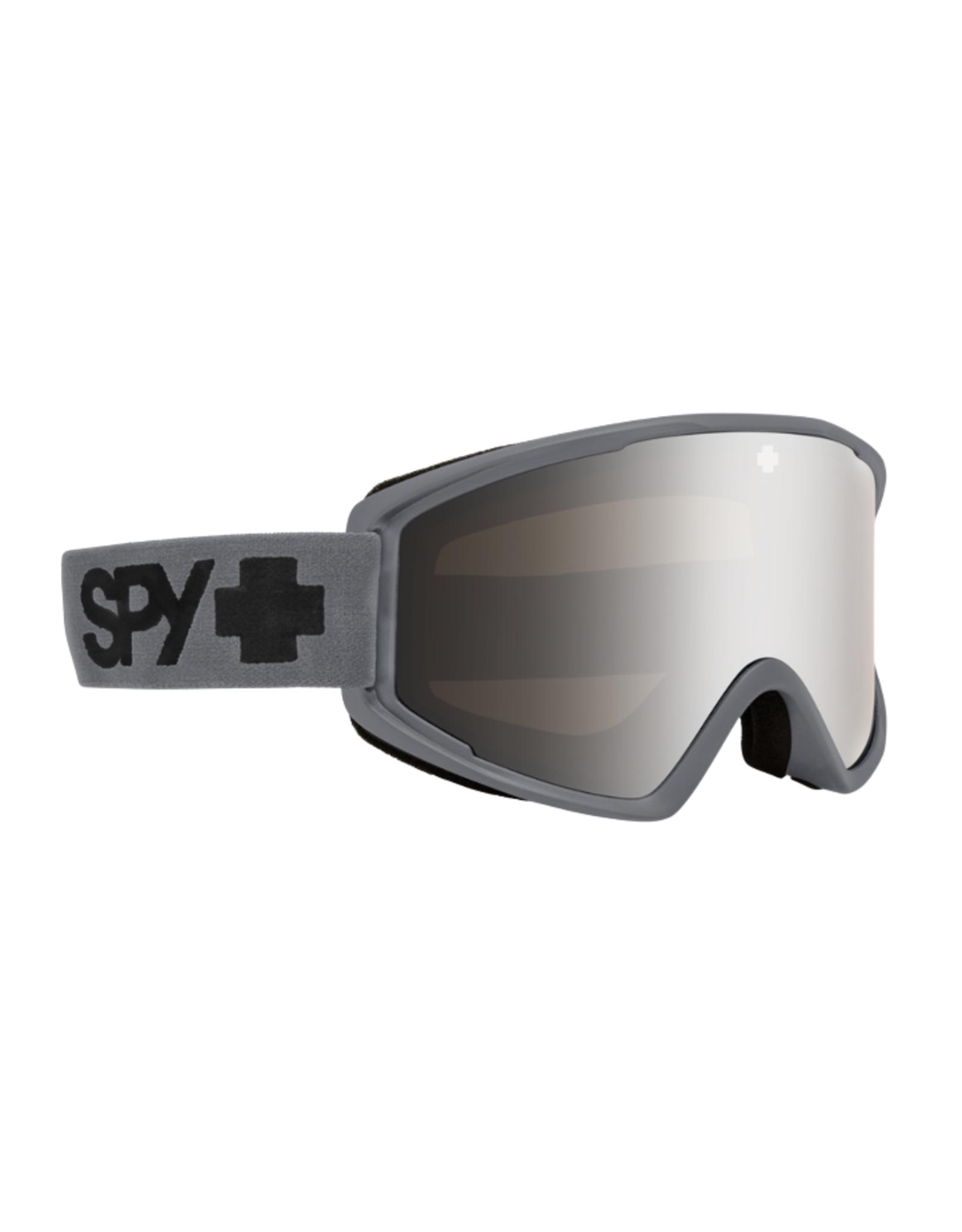 Spy SPY Crusher Elite Matte Gray - HD Bronze w/ Silver Spectra Mirror