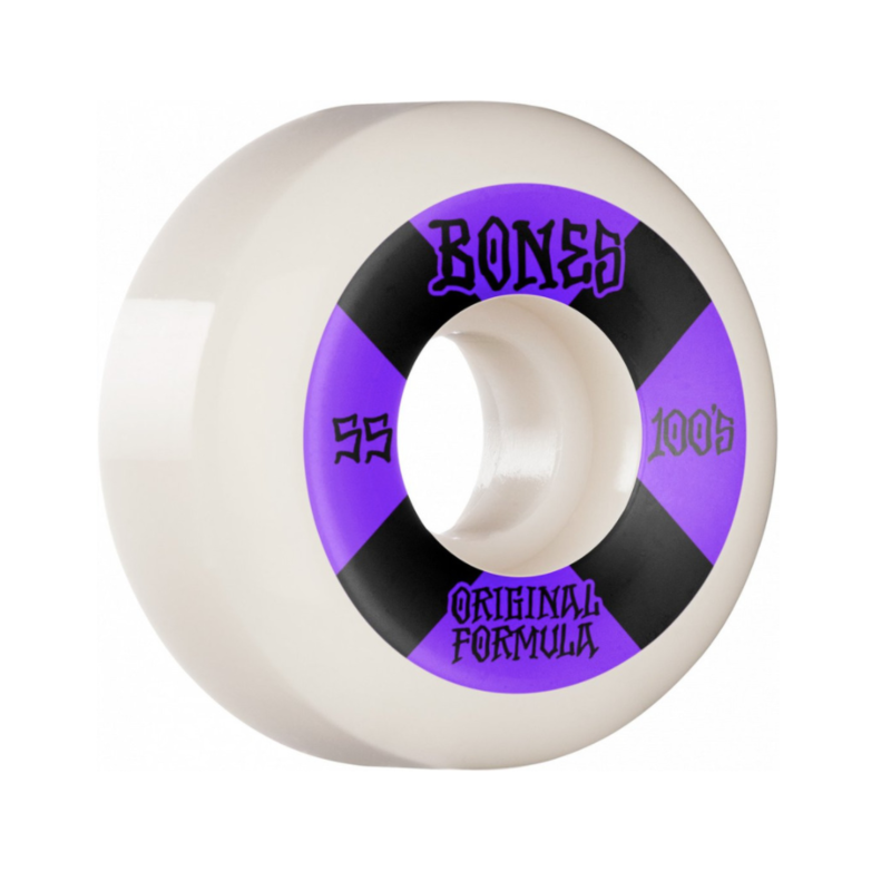 BONES BONES PRICE POINT WHEELS V5 SIDECUTS 100'S WHITE 55MM