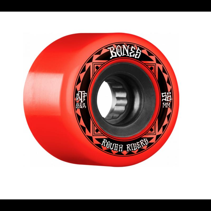 BONES BONES ATF WHEELS ROUGH RIDERS RUNNERS RED 56MM
