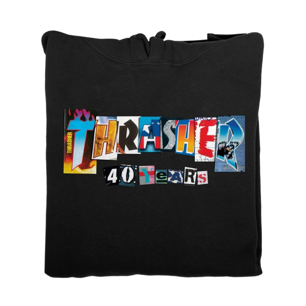 Thrasher THRASHER 40 YEARS HOODIE BLACK
