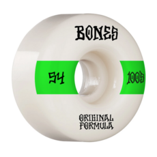 BONES BONES Price Point Wheels V4 Wides 100's White 54mm