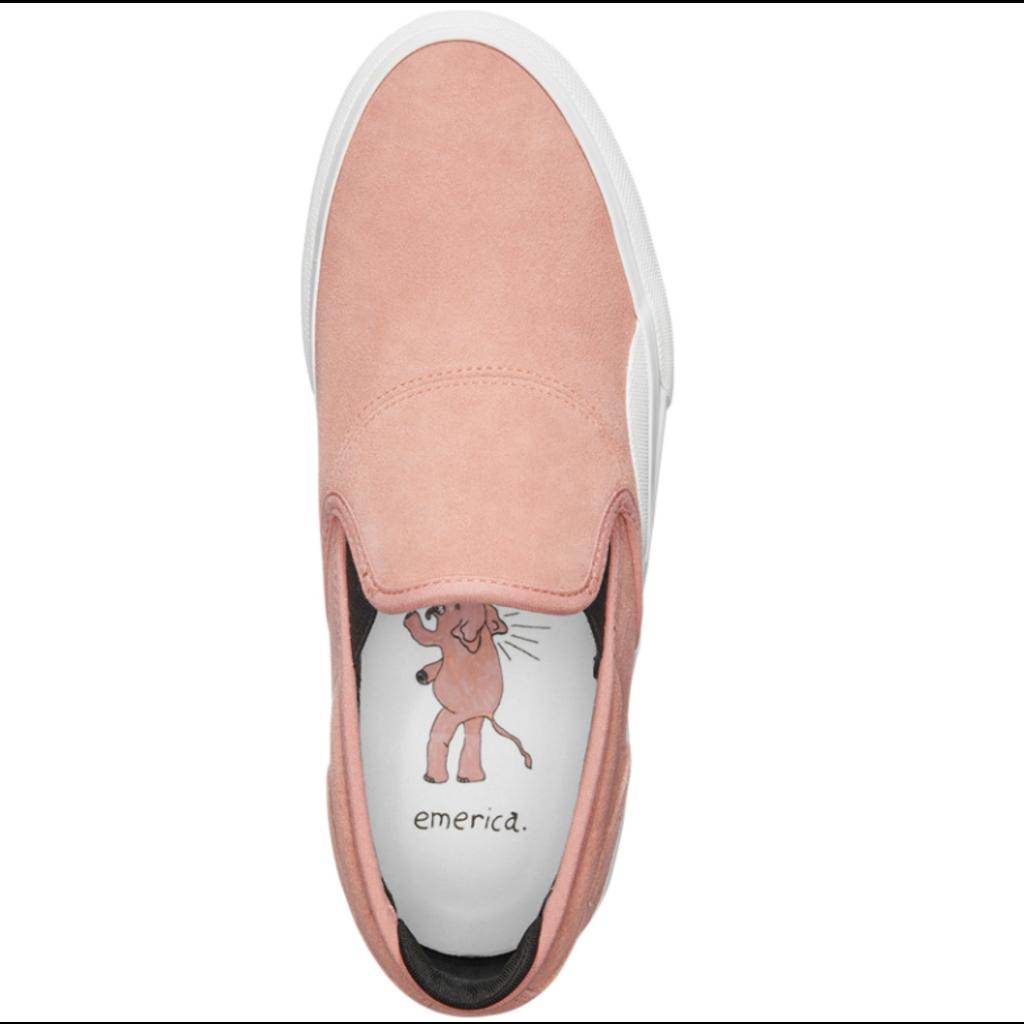 Emerica Emerica WINO G6 SLIP ON PINK/WHITE