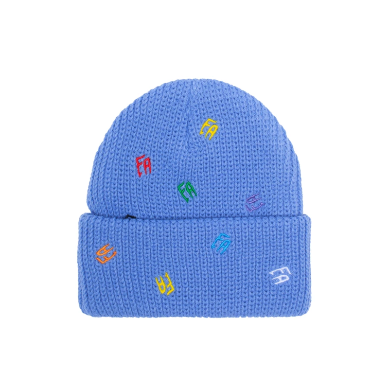 FUCKING AWESOME FUCKING AWESOME SCATTERED FA CUFF BEANIE BLUE