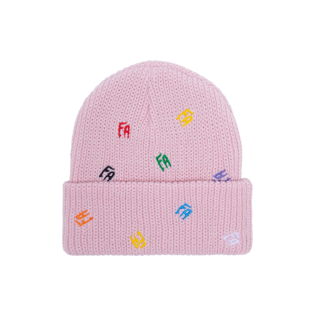 FUCKING AWESOME FUCKING AWESOME SCATTERED FA CUFF BEANIE PINK